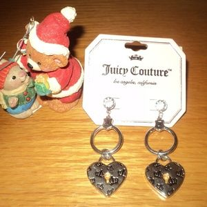 New With Tags Juicy Couture Heart Earrings